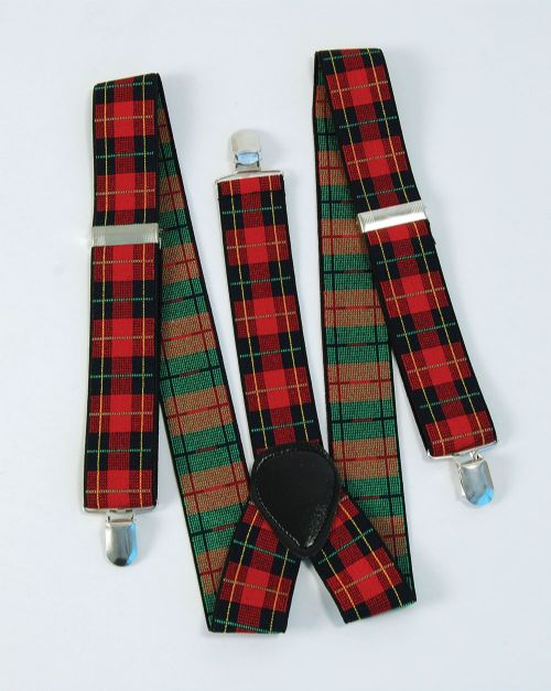 Tartan / Punk Braces for Scottish Scot Scotland Highland Fancy Dress Accessory